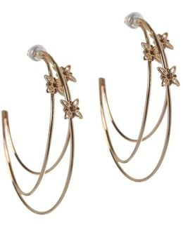 Butter Flower 12k Goldplated Hoop Earrings-1.5""