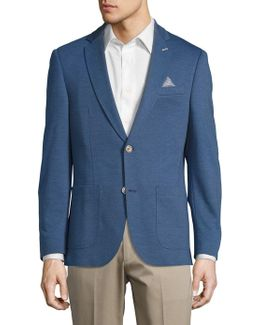 Textured Cotton-blend Sportcoat