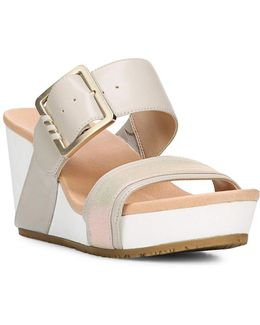Original Frill High Wedge Leather Sandals