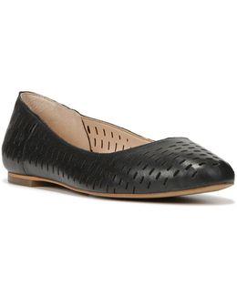 Original Vixen Perforated Leather Ballet Flats