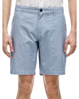 Mini-check Textured Bermuda Shorts