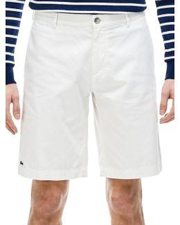 Gabardine Bermuda Shorts