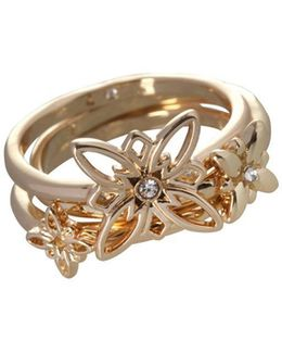 Butter Flower 12k Goldplated Stackable Rings