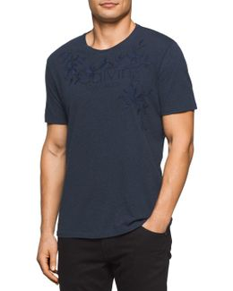 Velocity Embroidered Cotton Tee
