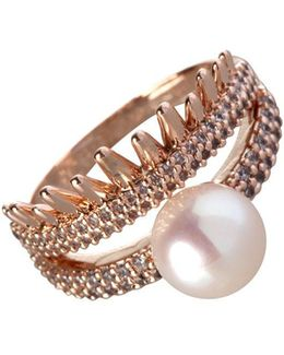 Pearl Group Faux Pearl Ring