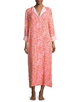 Floral Patterned Long Sleep Gown