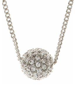Silvertone Crystal Fireball Pendant