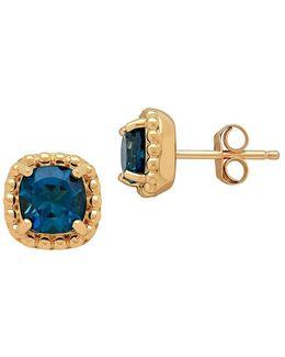 London Blue Topaz & 14k Yellow Gold Earrings