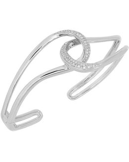 Diamond And Sterling Silver Cuff Bracelet