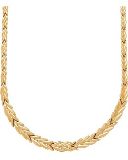 14k Yellow Gold Vine Leaf Necklace