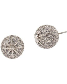 Pave Ball Stud Earrings