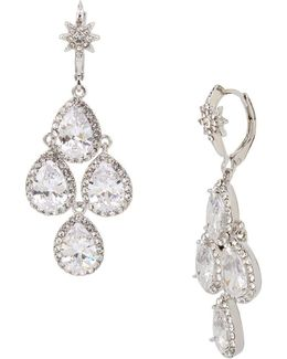 Blue By Cubic Zirconia Chandelier Earrings