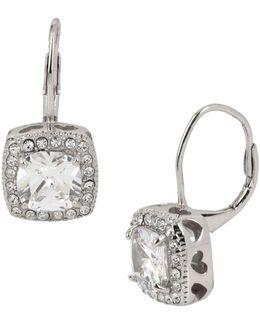Studded Square Drop Earrings