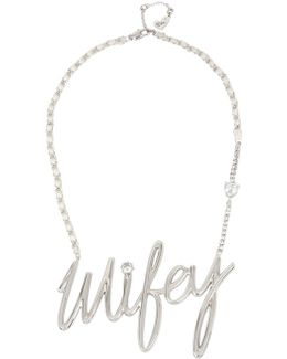 Blue By Wifey Pendant Necklace