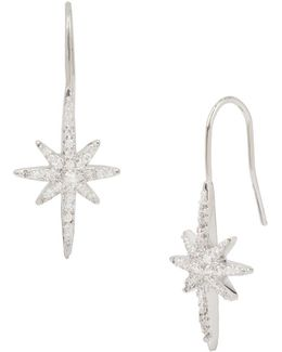 Pave Starburst Ear Climbers