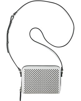 Ania Perforated Faux Leather Crossbody