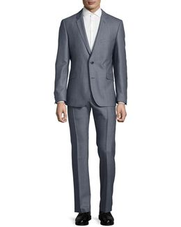 Textured Two-button Suit