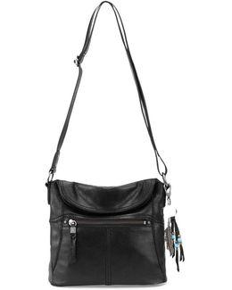 Esperato Leather Small Flap Crossbody Bag