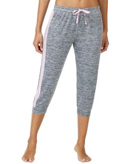 Marled Cropped Jogger Pants