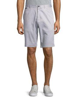 Printed Cotton-blend Shorts