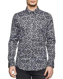 Men's Slim-fit Broken Square Cotton Shirt