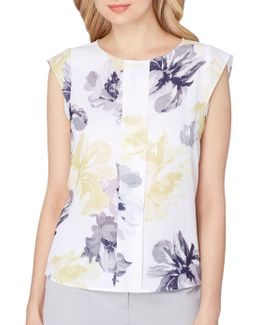 Petite Floral Sleeveless Blouse