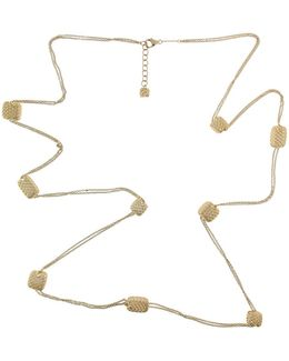 18k Yellow Gold Station Necklace