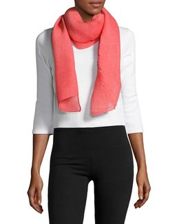 Leah Pleat Textured Scarf