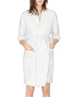 Solid Cotton-blend Robe
