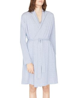Long-sleeve Striped Robe