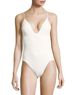 Engineered Crochet One-piece