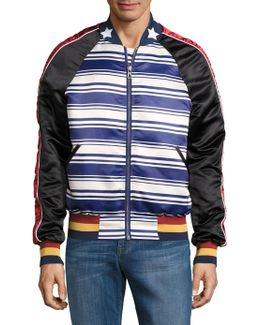 Jrian Stars And Stripes Bomber Jacket
