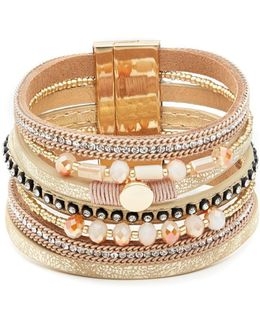 Multi-strapped Gold Bracelet