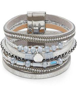 Multi-strap Sterling Silver Bracelet