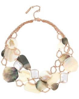 Under Construction Mother-of-pearl Mixed Shell Multi Row Necklace