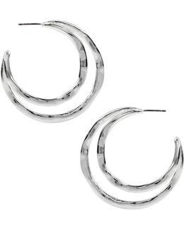 Double-row Hoop Earrings