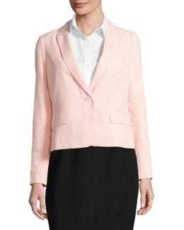 Seersucker Long Sleeve Jacket