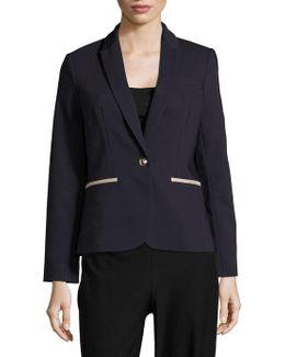 One-button Cotton-blend Blazer