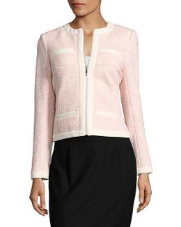 Textured Zipper Jacket