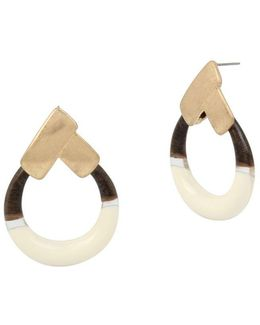 Primal Connection Geometric Round Drop Earrings
