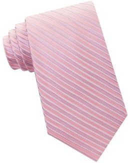 Ribbed Striped Silk Tie