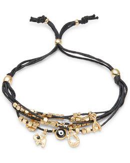 Charm Accented Beaded Mult-strand Bracelet