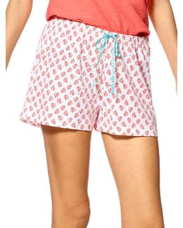 Coral Fish Cotton Shorts