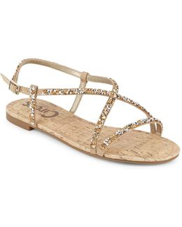 Embellished Strappy Sandals