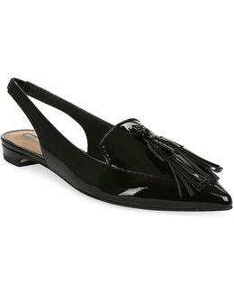 Paulina Slingback Patent Leather Flats