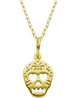 Sterling Silver Skull Pendant Necklace
