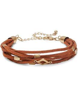 Hardware-accented Leatherette Bracelet