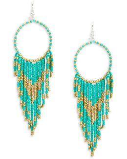 Asymmetrical Fringe Drop Earrings