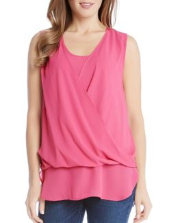 Drape Front Layered Top