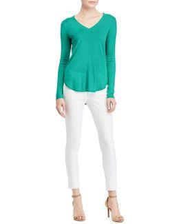 Asymmetrical Long-sleeve Sweater